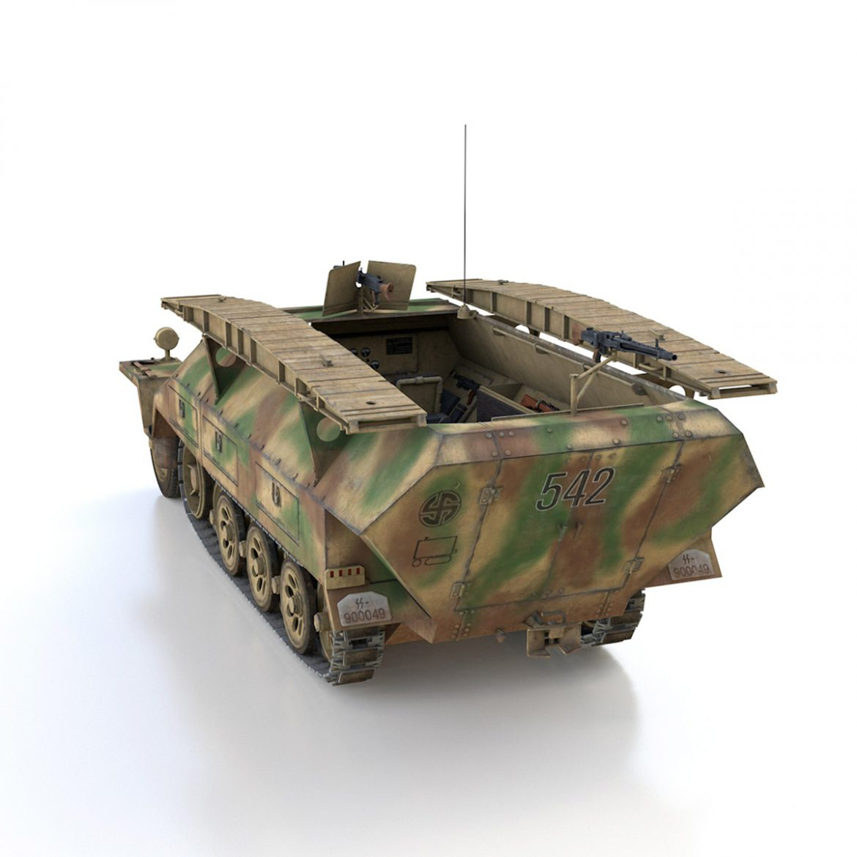 sd.kfz 251 ausf.d – assault engineer vehicle – 542 3d model 3ds fbx c4d lwo obj 302974