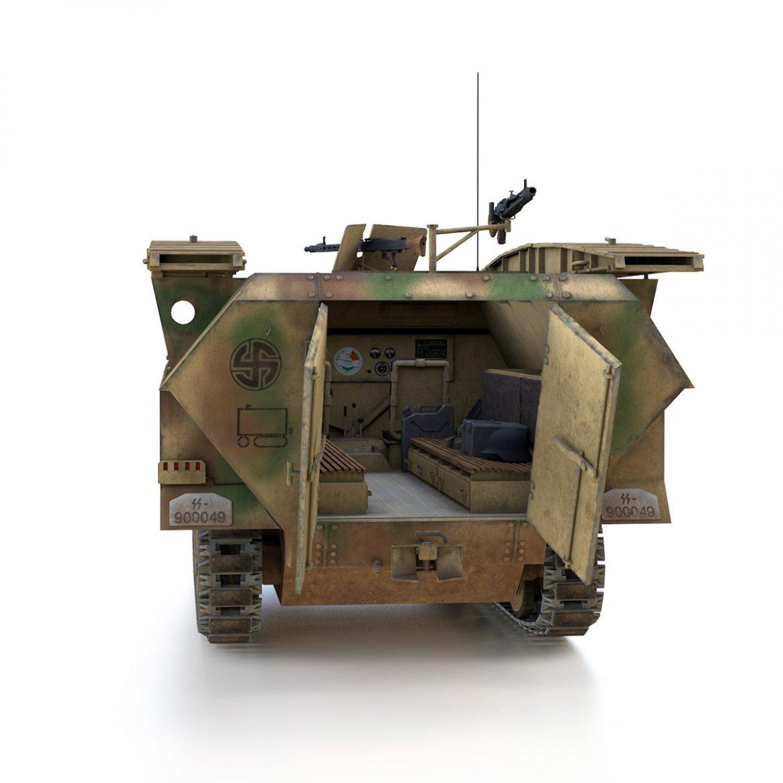 sd.kfz 251 ausf.d – assault engineer vehicle – 542 3d model 3ds fbx c4d lwo obj 302975