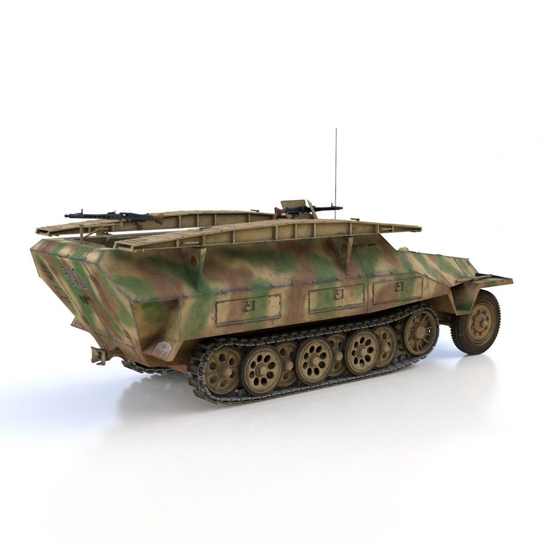 sd.kfz 251 ausf.d – assault engineer vehicle – 542 3d model 3ds fbx c4d lwo obj 302976