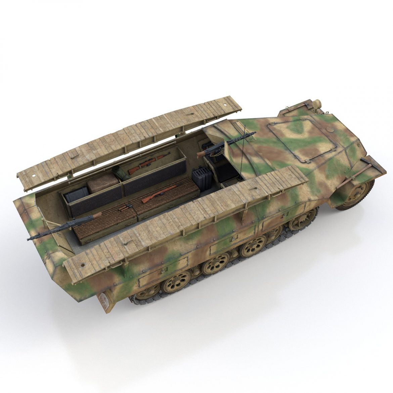 sd.kfz 251 ausf.d – assault engineer vehicle – 542 3d model 3ds fbx c4d lwo obj 302977