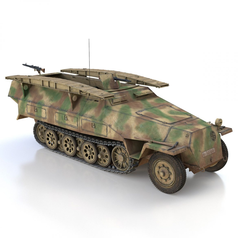 sd.kfz 251 ausf.d – assault engineer vehicle – 542 3d model 3ds fbx c4d lwo obj 302978