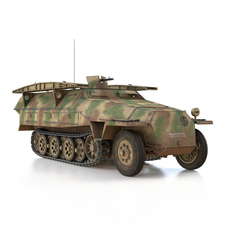 sd.kfz 251 ausf.d – assault engineer vehicle – 542 3d model 3ds fbx c4d lwo obj 302979