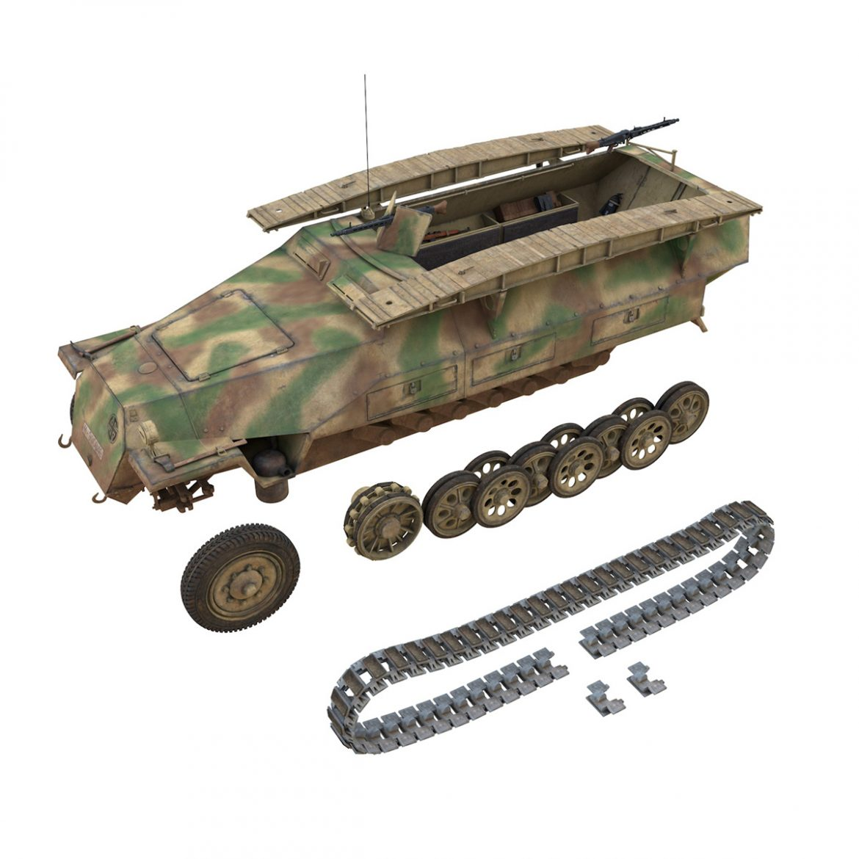 sd.kfz 251 ausf.d – assault engineer vehicle – 542 3d model 3ds fbx c4d lwo obj 302980