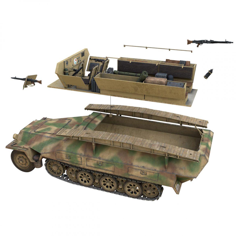 sd.kfz 251 ausf.d – assault engineer vehicle – 542 3d model 3ds fbx c4d lwo obj 302981