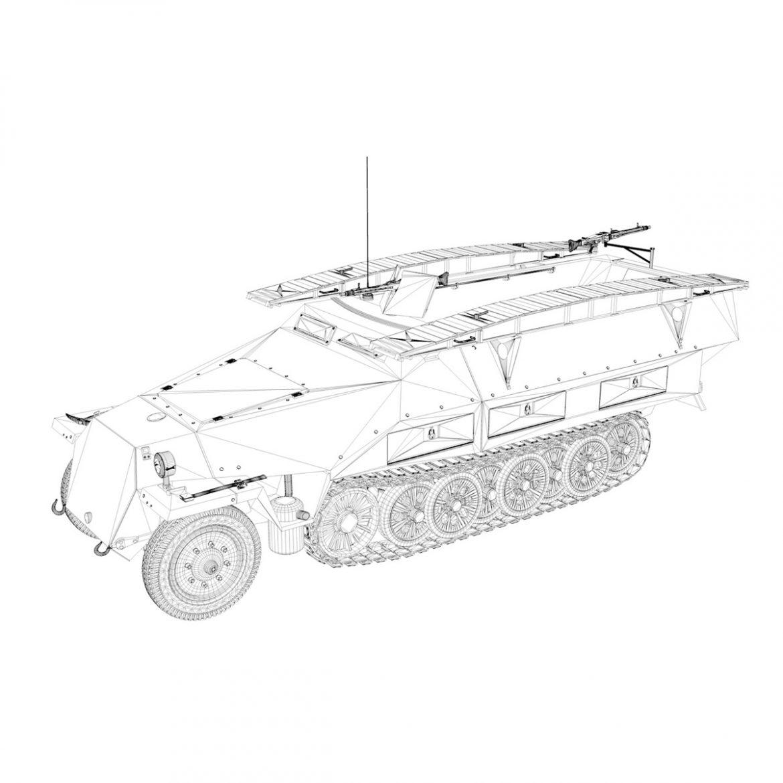 sd.kfz 251 ausf.d – assault engineer vehicle – 542 3d model 3ds fbx c4d lwo obj 302982