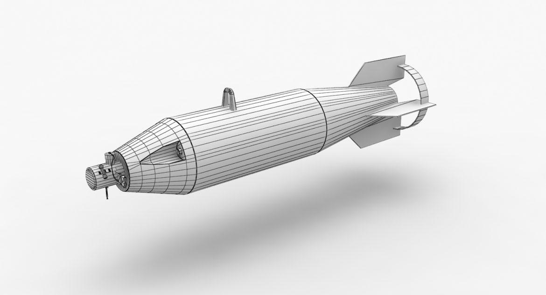 bomb p-50t 3d model 3ds max fbx obj 303024
