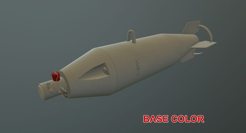 bomb p-50t 3d model 3ds max fbx obj 303033