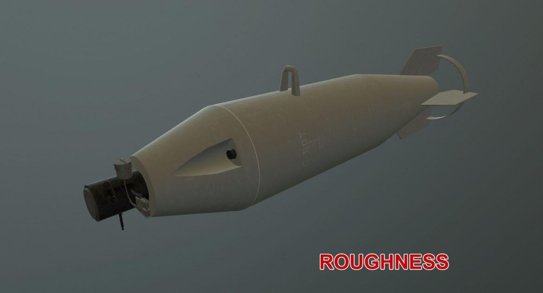 bomb p-50t 3d model 3ds max fbx obj 303035