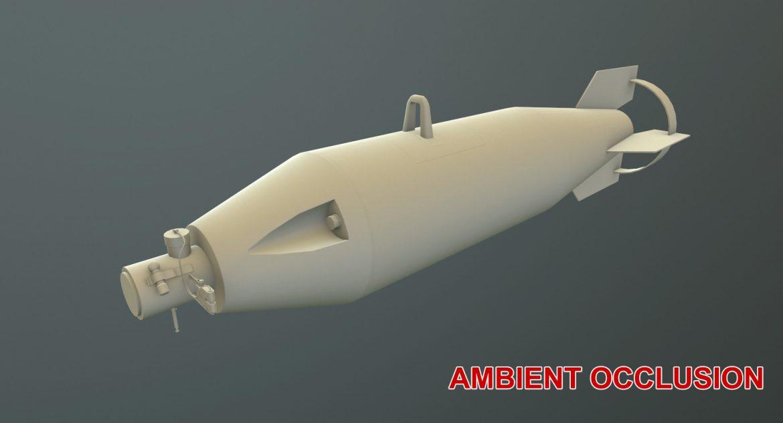 bomb p-50t 3d model 3ds max fbx obj 303036