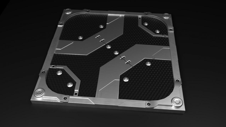 scifi bottom panel 3d model 3ds fbx obj c4d ther 303237