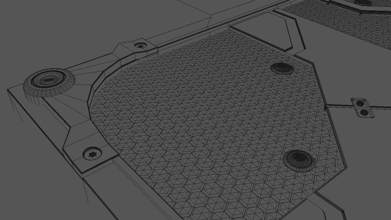 scifi bottom panel 3d model 3ds fbx obj c4d ther 303248