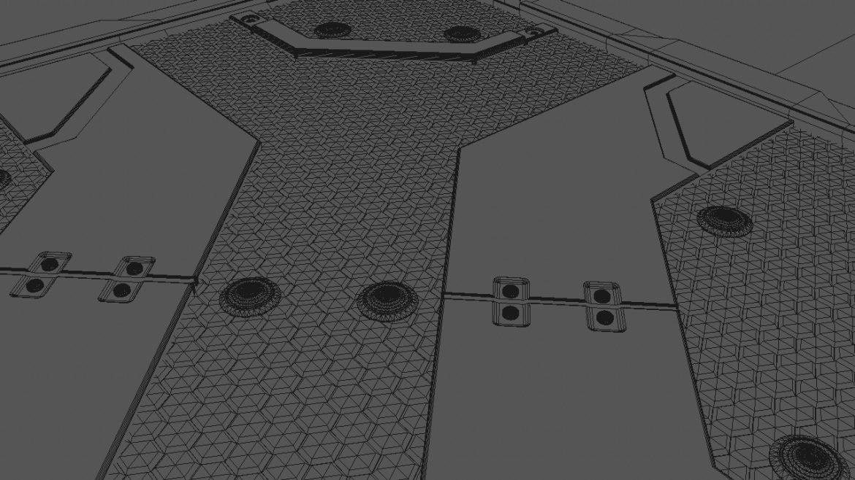 scifi bottom panel 3d model 3ds fbx obj c4d ther 303249