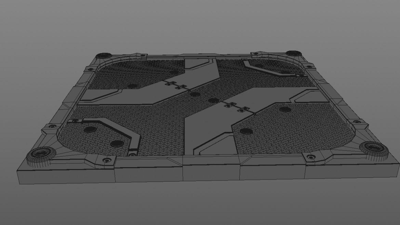 scifi bottom panel 3d model 3ds fbx obj c4d ther 303250
