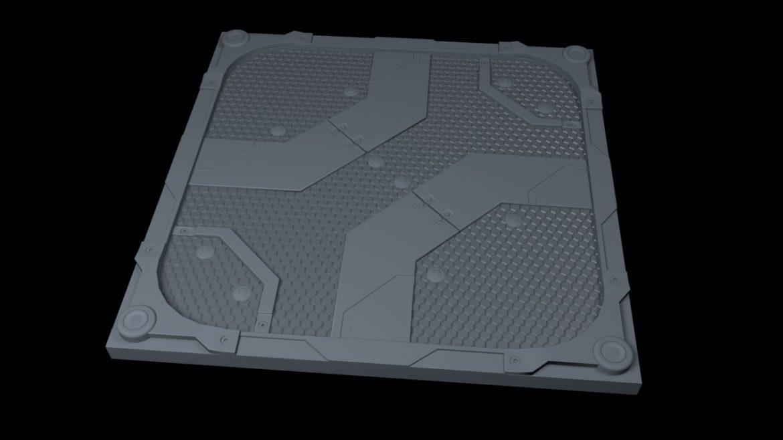 scifi bottom panel 3d model 3ds fbx obj c4d ther 303253