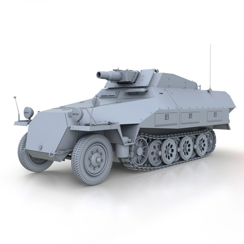 sd.kfz 251 / 9 ausf.d - kanonenwagen stummel 3d model 3ds c4d fbx lwo lw lw obj 303266