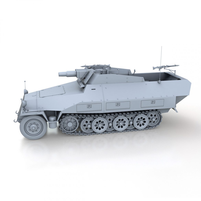sd.kfz 251 / 9 ausf.d - kanonenwagen stummel 3d model 3ds c4d fbx lwo lw lw obj 303267