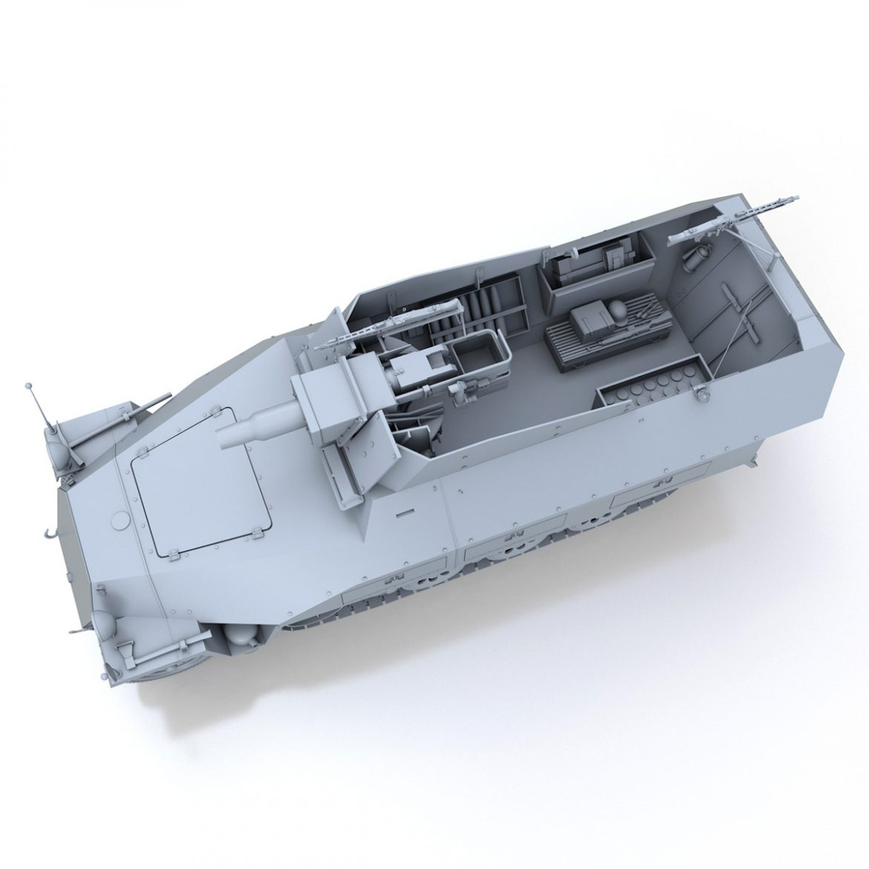 sd.kfz 251 / 9 ausf.d - kanonenwagen stummel 3d model 3ds c4d fbx lwo lw lw obj 303268