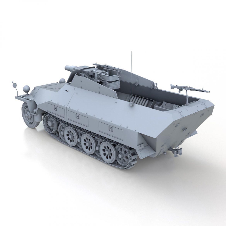 sd.kfz 251 / 9 ausf.d - kanonenwagen stummel 3d model 3ds c4d fbx lwo lw lw obj 303269