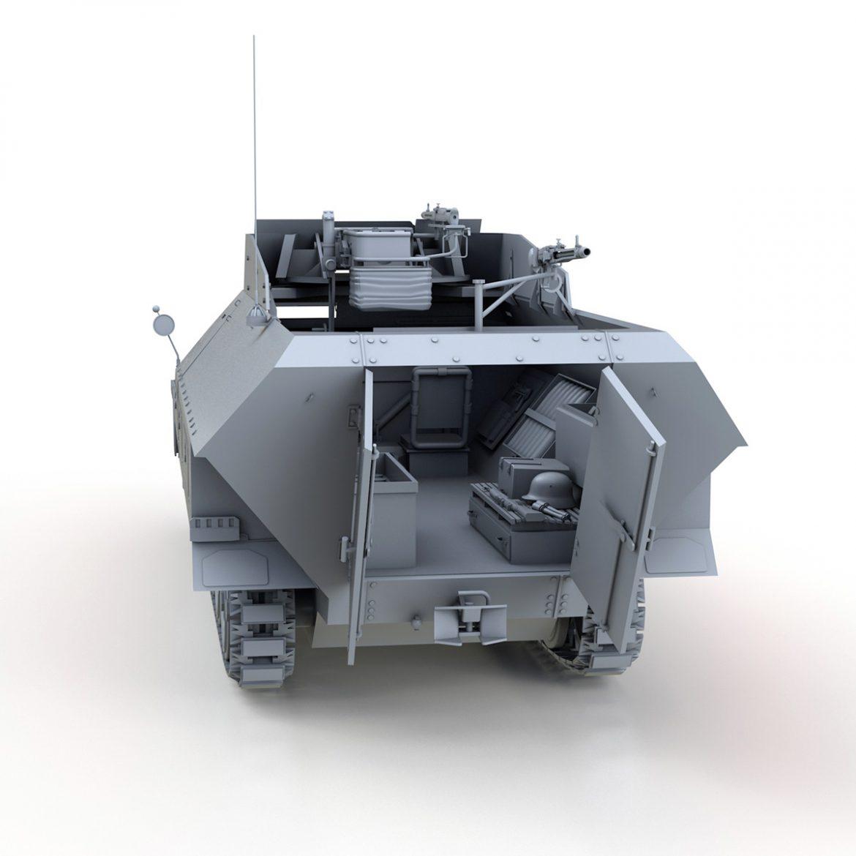 sd.kfz 251 / 9 ausf.d - kanonenwagen stummel 3d model 3ds c4d fbx lwo lw lw obj 303270
