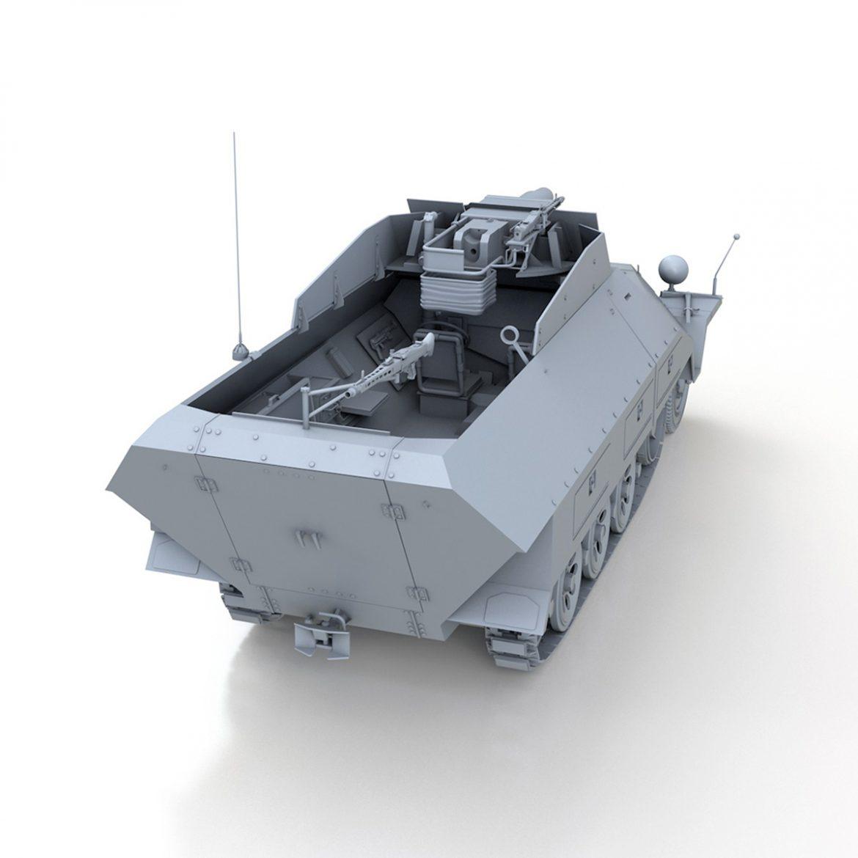 sd.kfz 251 / 9 ausf.d - kanonenwagen stummel 3d model 3ds c4d fbx lwo lw lw obj 303271