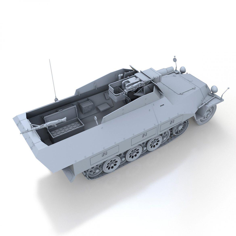 sd.kfz 251 / 9 ausf.d - kanonenwagen stummel 3d model 3ds c4d fbx lwo lw lw obj 303272