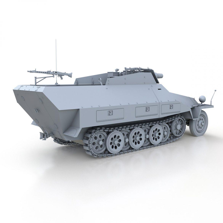 sd.kfz 251 / 9 ausf.d - kanonenwagen stummel 3d model 3ds c4d fbx lwo lw lw obj 303273