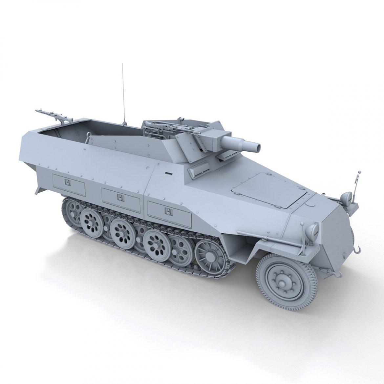sd.kfz 251 / 9 ausf.d - kanonenwagen stummel 3d model 3ds c4d fbx lwo lw lw obj 303274