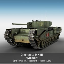 churchill mk.iii – margie 3d model 3ds c4d fbx lwo lw lws obj 303288