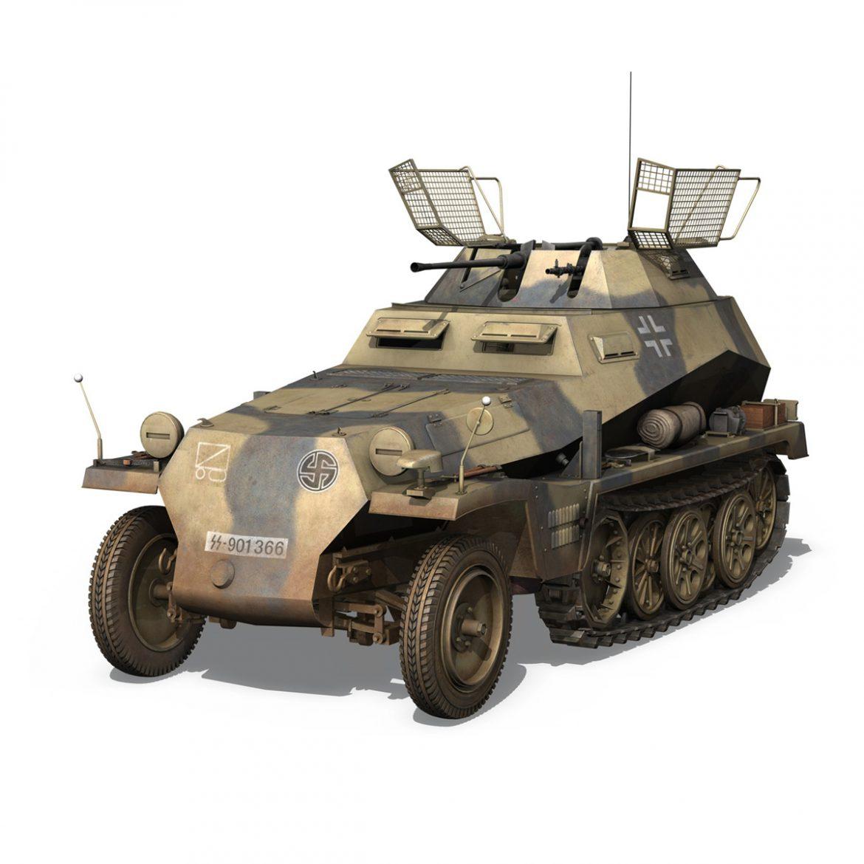 sd.kfz 250/9 – reconnaissance halftruck – nordland 3d model 3ds c4d fbx lwo lw lws obj 303307