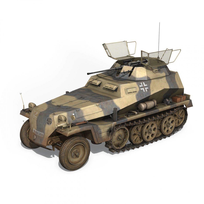 sd.kfz 250/9 – reconnaissance halftruck – nordland 3d model 3ds c4d fbx lwo lw lws obj 303308
