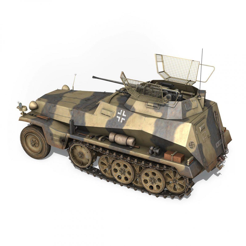 sd.kfz 250/9 – reconnaissance halftruck – nordland 3d model 3ds c4d fbx lwo lw lws obj 303309