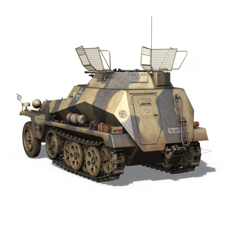 sd.kfz 250/9 – reconnaissance halftruck – nordland 3d model 3ds c4d fbx lwo lw lws obj 303310