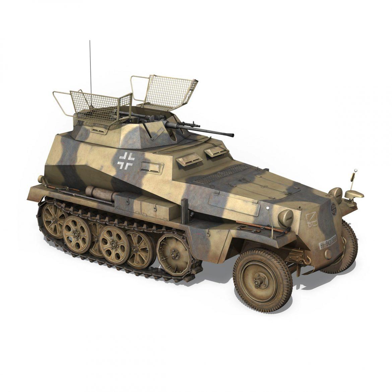 sd.kfz 250/9 – reconnaissance halftruck – nordland 3d model 3ds c4d fbx lwo lw lws obj 303312
