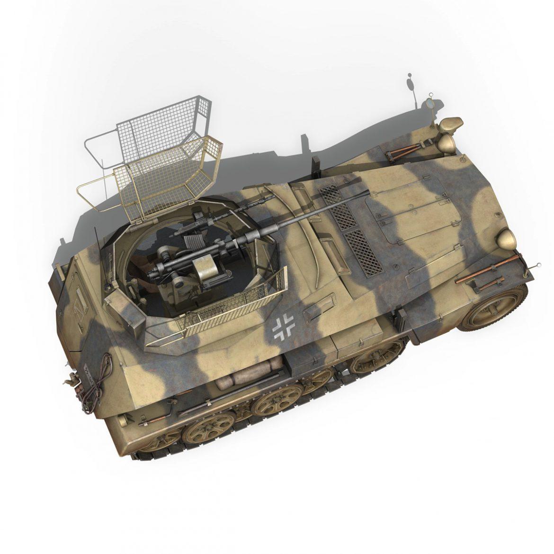 sd.kfz 250/9 – reconnaissance halftruck – nordland 3d model 3ds c4d fbx lwo lw lws obj 303313