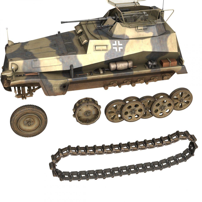 sd.kfz 250/9 – reconnaissance halftruck – nordland 3d model 3ds c4d fbx lwo lw lws obj 303315
