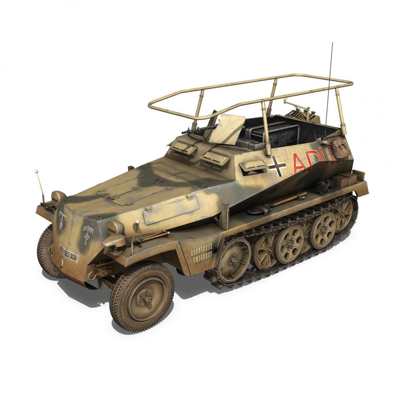 sd.kfz 250 3 – adler – halftrack command variant 3d model 3ds fbx lwo lw lws obj c4d 303326