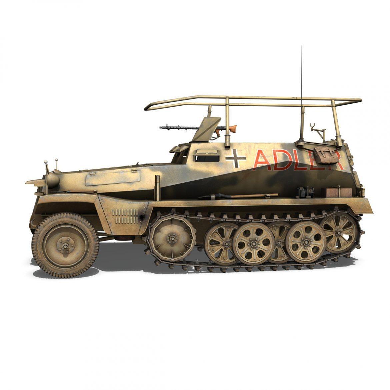 sd.kfz 250 3 – adler – halftrack command variant 3d model 3ds fbx lwo lw lws obj c4d 303327