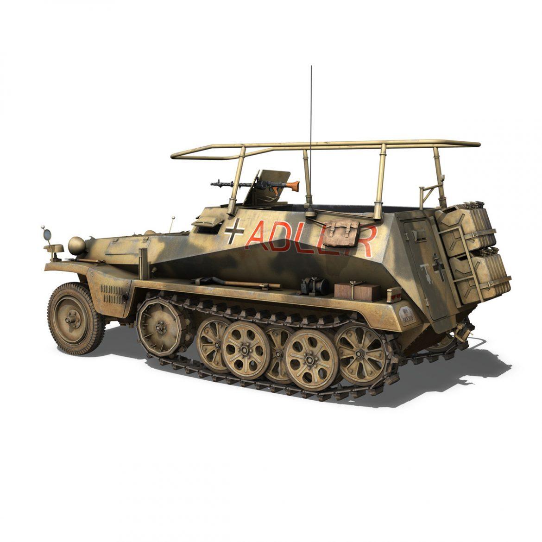 sd.kfz 250 3 – adler – halftrack command variant 3d model 3ds fbx lwo lw lws obj c4d 303328