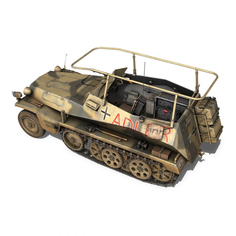 sd.kfz 250 3 – adler – halftrack command variant 3d model 3ds fbx lwo lw lws obj c4d 303329