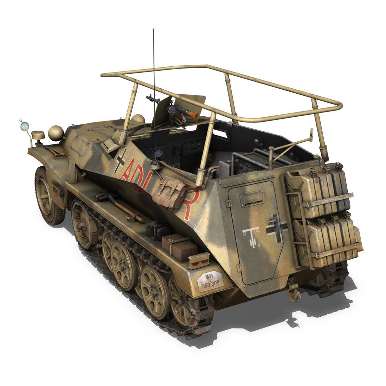 sd.kfz 250 3 – adler – halftrack command variant 3d model 3ds fbx lwo lw lws obj c4d 303330