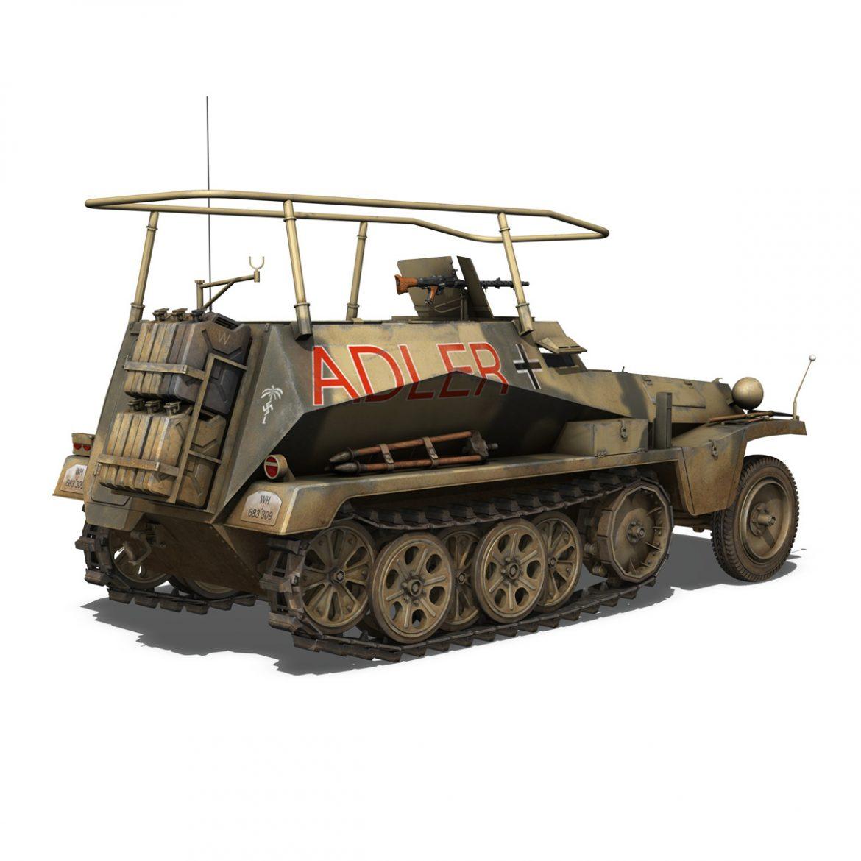 sd.kfz 250 3 – adler – halftrack command variant 3d model 3ds fbx lwo lw lws obj c4d 303331