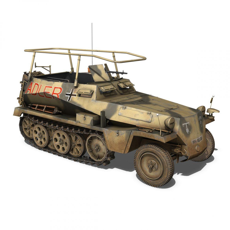 sd.kfz 250 3 – adler – halftrack command variant 3d model 3ds fbx lwo lw lws obj c4d 303332