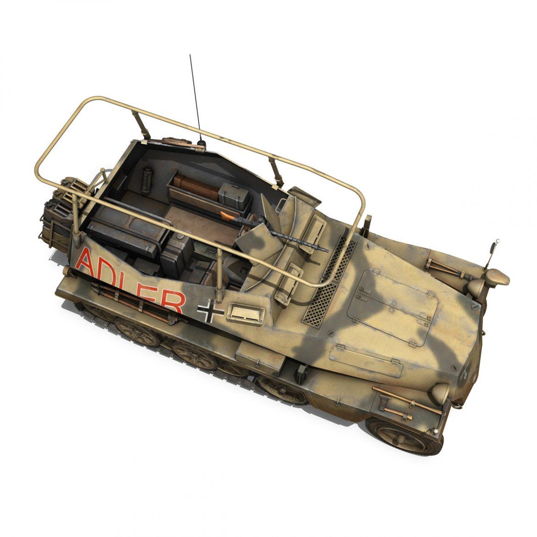 sd.kfz 250 3 – adler – halftrack command variant 3d model 3ds fbx lwo lw lws obj c4d 303333