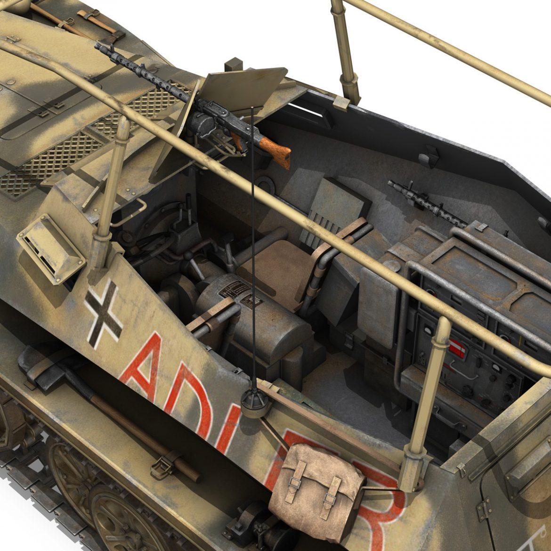 sd.kfz 250 3 – adler – halftrack command variant 3d model 3ds fbx lwo lw lws obj c4d 303334