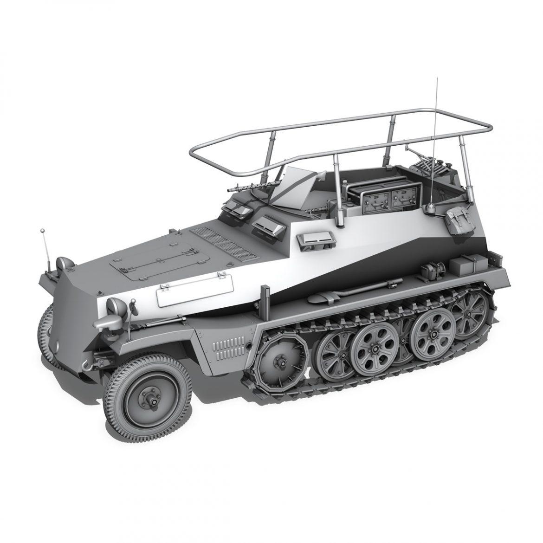 sd.kfz 250 3 – adler – halftrack command variant 3d model 3ds fbx lwo lw lws obj c4d 303336