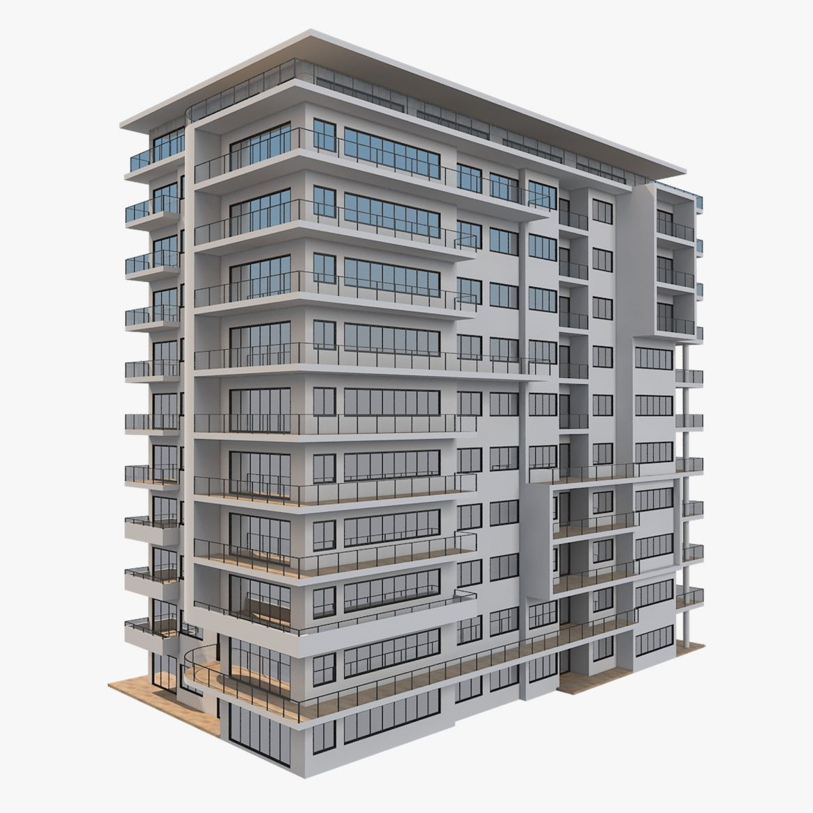 apartment building_61 3d model 3ds blend c4d fbx max ds max plugin ma mb obj 303409
