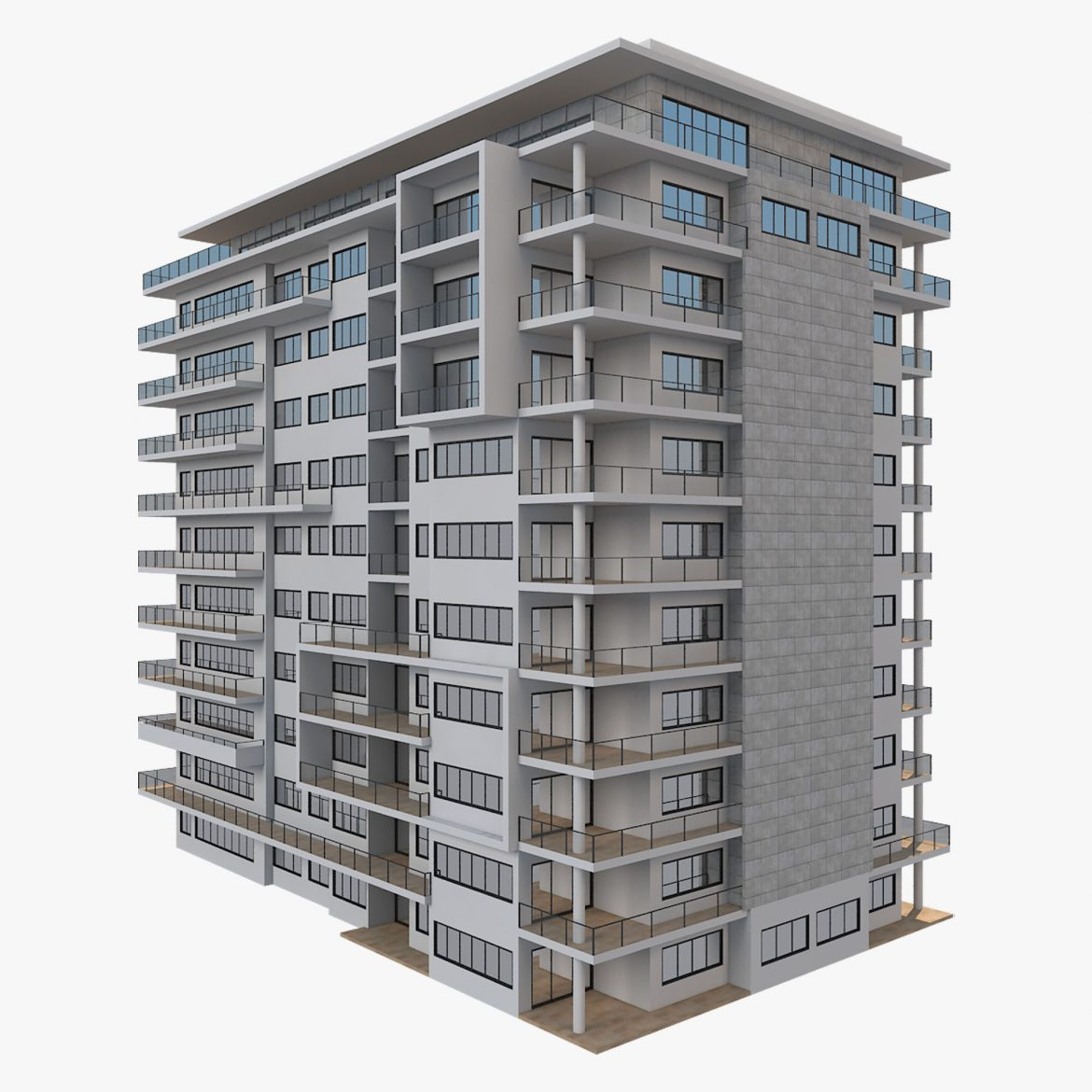 apartment building_61 3d model 3ds blend c4d fbx max ds max plugin ma mb obj 303410