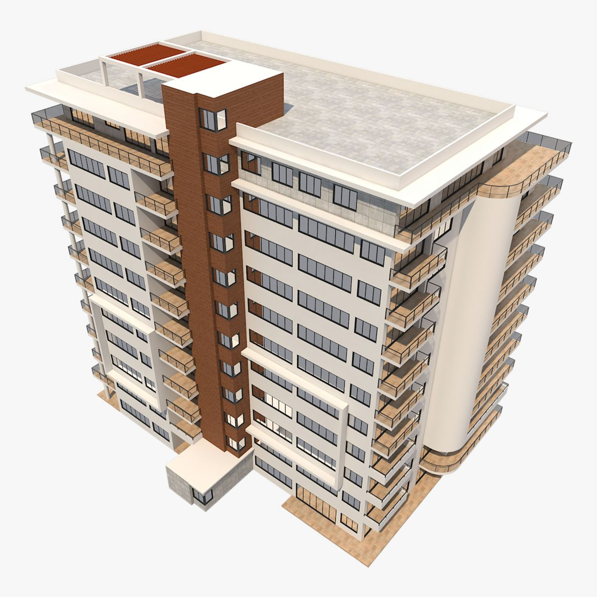 apartment building_61 3d model 3ds blend c4d fbx max ds max plugin ma mb obj 303411