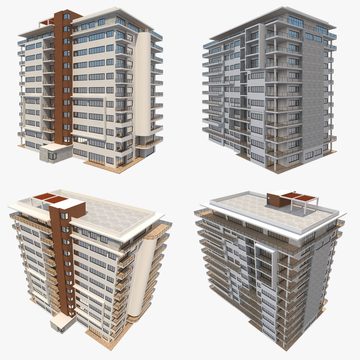 apartment building_61 3d model 3ds blend c4d fbx max ds max plugin ma mb obj 303413