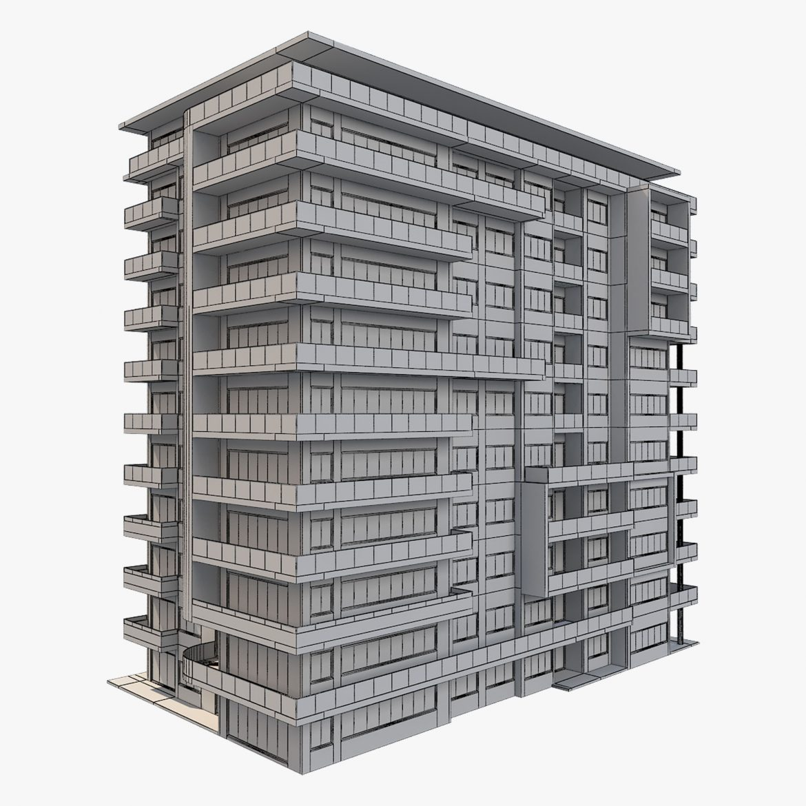 apartment building_61 3d model 3ds blend c4d fbx max ds max plugin ma mb obj 303416